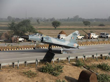 Mirage 2000 fighter jet lands on Yamuna Expressway in trial exercise. IBN