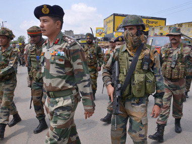 Security personnel at Punjab. AFP.