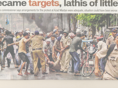 Screenshot of Hindustan Times' coverage of the riots.