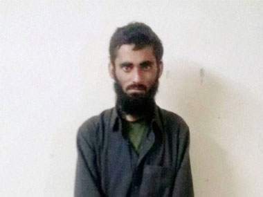 Captured Pakistani terrorist Sajjad Ahmed. PTI