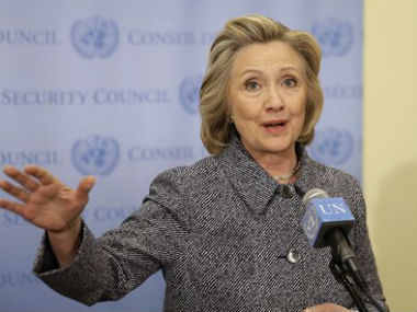 US Presidential candidate Hillary Clinton. AP