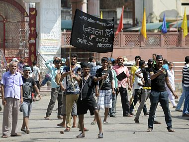 File image of protests in Nepal. AP