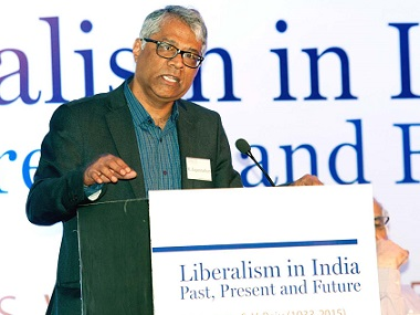 R Jagannathan at the seminar in Delhi on Friday. Firstpost/Naresh Sharma