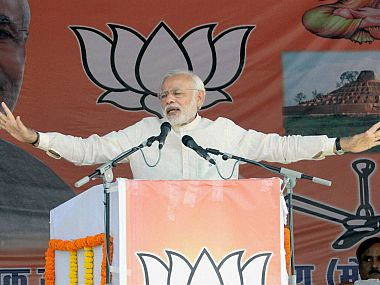 File image of PM Narendra Modi addressing a rally. PTI