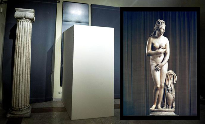 Covered up nudes in the museum. Image Courtesy: ANSA/www.ansa.it