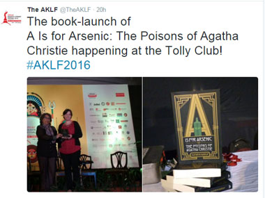 Screenshot of ‏@TheAKLF  Twitter handle.