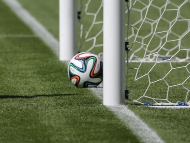 Goal-line technology. AFP