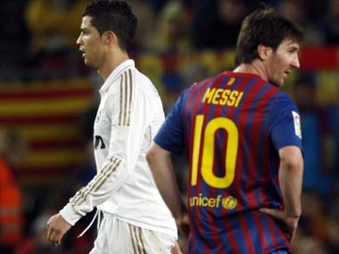 Leo Messi and Cristiano Ronaldo. Reuters