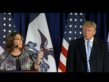 Sarah Palin and Donald Trump. Image courtesy: YouTube