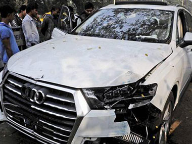 The car that run over the IAF corporal. PTI