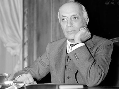 Jawaharlal Nehru in a file photo. AFP