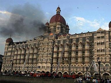 The Taj Mahal Hotel during the 26 November, 2008 terror attacks on Mumbai. IBNLive