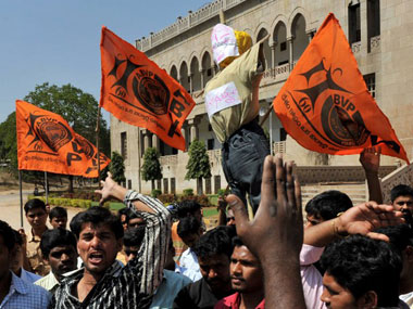 ABVP party members. AFP