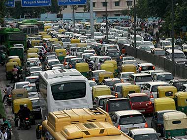 File image of traffic in Delhi. PTI