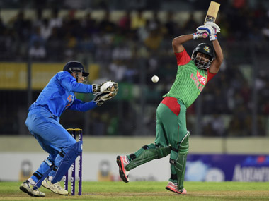India Bangladesh in action last year in Dhaka. AFP