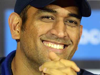 Mahendra Singh Dhoni during a media conference. AFP