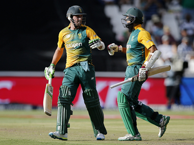 AB de Villiers and Hashim Amla blasted South Africa to victory. AFP