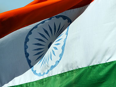 The Indian flag. Getty Images