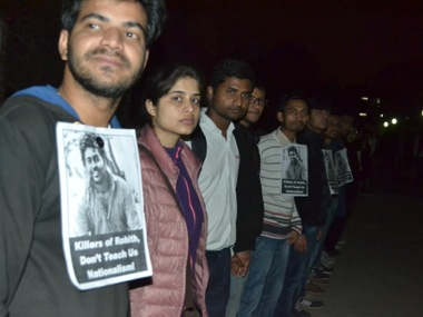 JNU students at a protest march. Image courtesy: Tarique Anwar/Firstpost