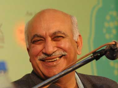 File image of BJP national spokesperson MJ Akbar. AFP