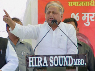 Mulayam Singh Yadav. File photo. PTI