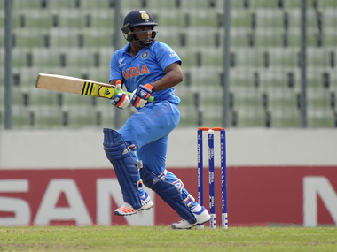 India's Sarfaraz Khan during his knock against West Indies in the U19 World Cup final in Dhaka. Getty Images