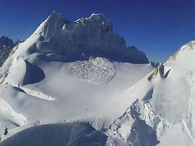 The Siachen glacier. PTI