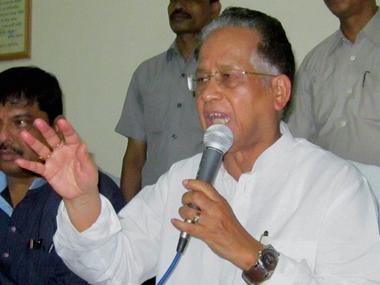 Assam CM Tarun Gogoi. PTI
