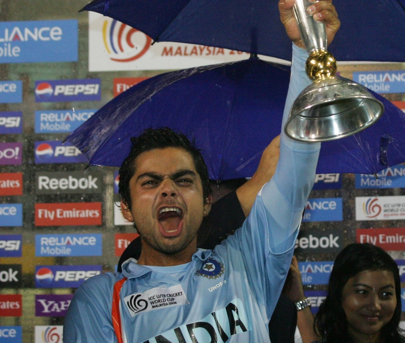 The one and only Virat Kohli after captaining India U-19 to 2008 Word Cup