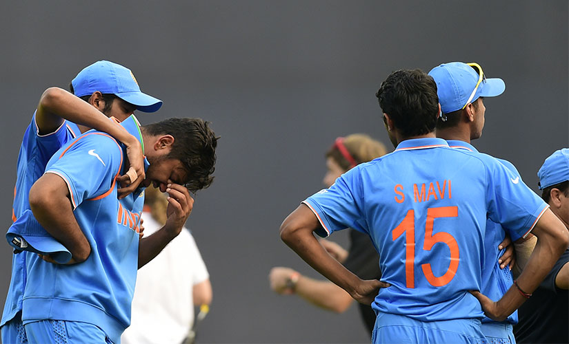 Indian cricketers were left heartbroken after a narrow loss to West Indies in the final of U19 World Cup. AFP