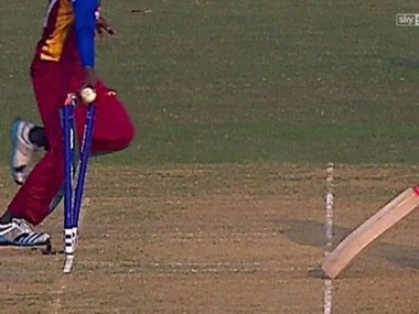 The Mankad incident at the U-19 World Cup. Image Courtesy: Twitter