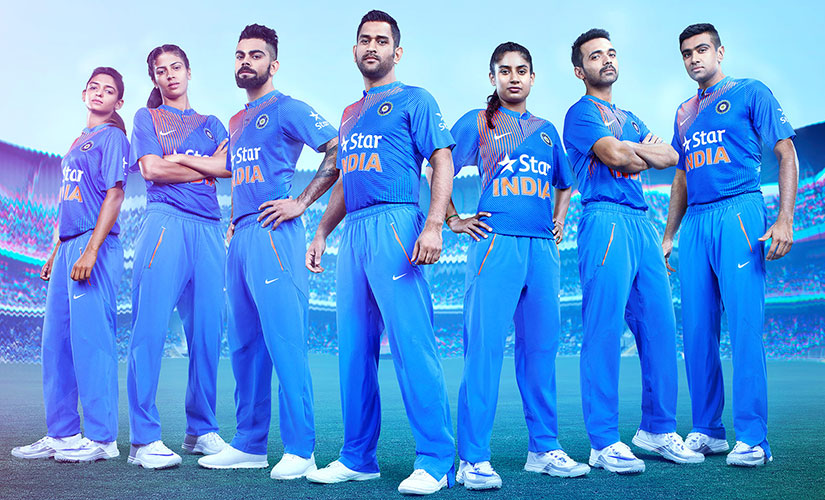 Team India's new WT20 kits. Image Credit: Nike Media