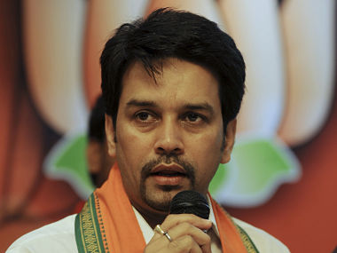 File picture of Anurag Thakur. AFP