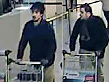 The twin faces of the Brussels airport attack. AFP