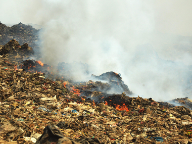 The fire at Deonar. File photo. Solaris images