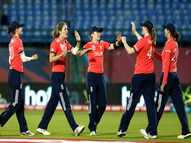 The England women's cricket team. AP