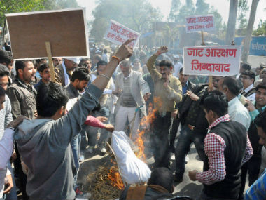A file photo of the Jat agitations in Haryana. PTI