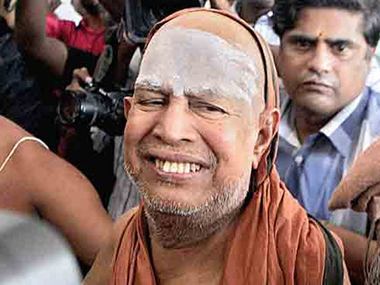 A file photo of Jayendra Saraswati. PTI