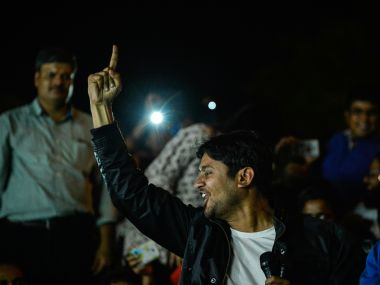 A file image of Kanhaiya Kumar during a protest march. AFP
