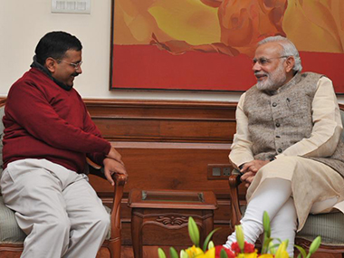 Arvind Kejriwal and Narendra Modi. File photo. Image courtesy: PIB