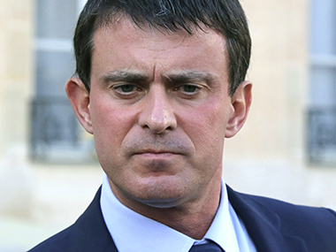 A file photo of French Prime Minister Manuel Valls. AP