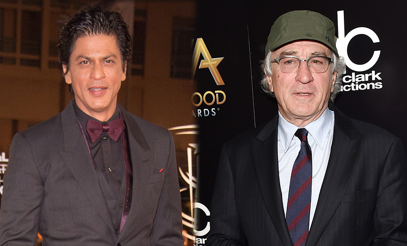 Shah Rukh Khan and Robert De Niro (R). Images from Getty