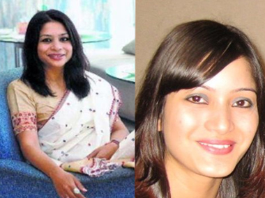Indrani Mukerjea (left) and Sheena Bora. Agencies