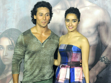 Tiger Shroff and Shraddha Kapoor at the Baaghi trailer launch. Image by Sachin Gokhale