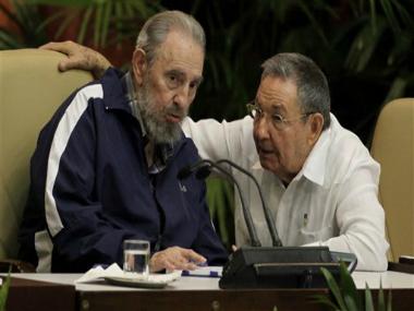 File photo, Fidel Castro, left, and Cuba's President Raul Castro. AP