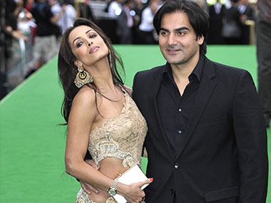 Malaika Arora Khan with Arbaaz Khan. Image from Reuters
