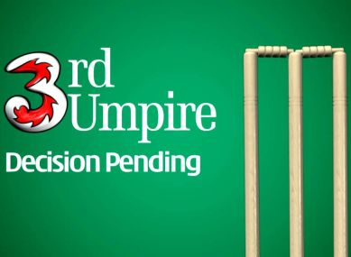 File photo of a pending Third Umpire decision on the screen. (YouTube screengrab)