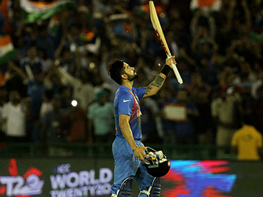 Kohli mastered another successful chase for India, with his 82 off 51. Solaris Images