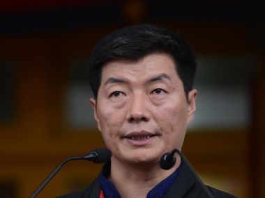 File photo of Lobsang Sangay. AFP