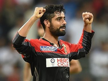 RCB off-spinner Iqbal Abdulla. AFP